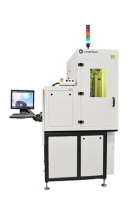 Laser system for automatic tube marking