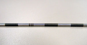 Laser marking of metal tubes