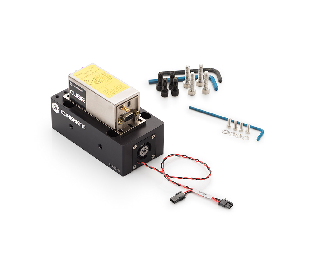 diode laser system, cube heat sink