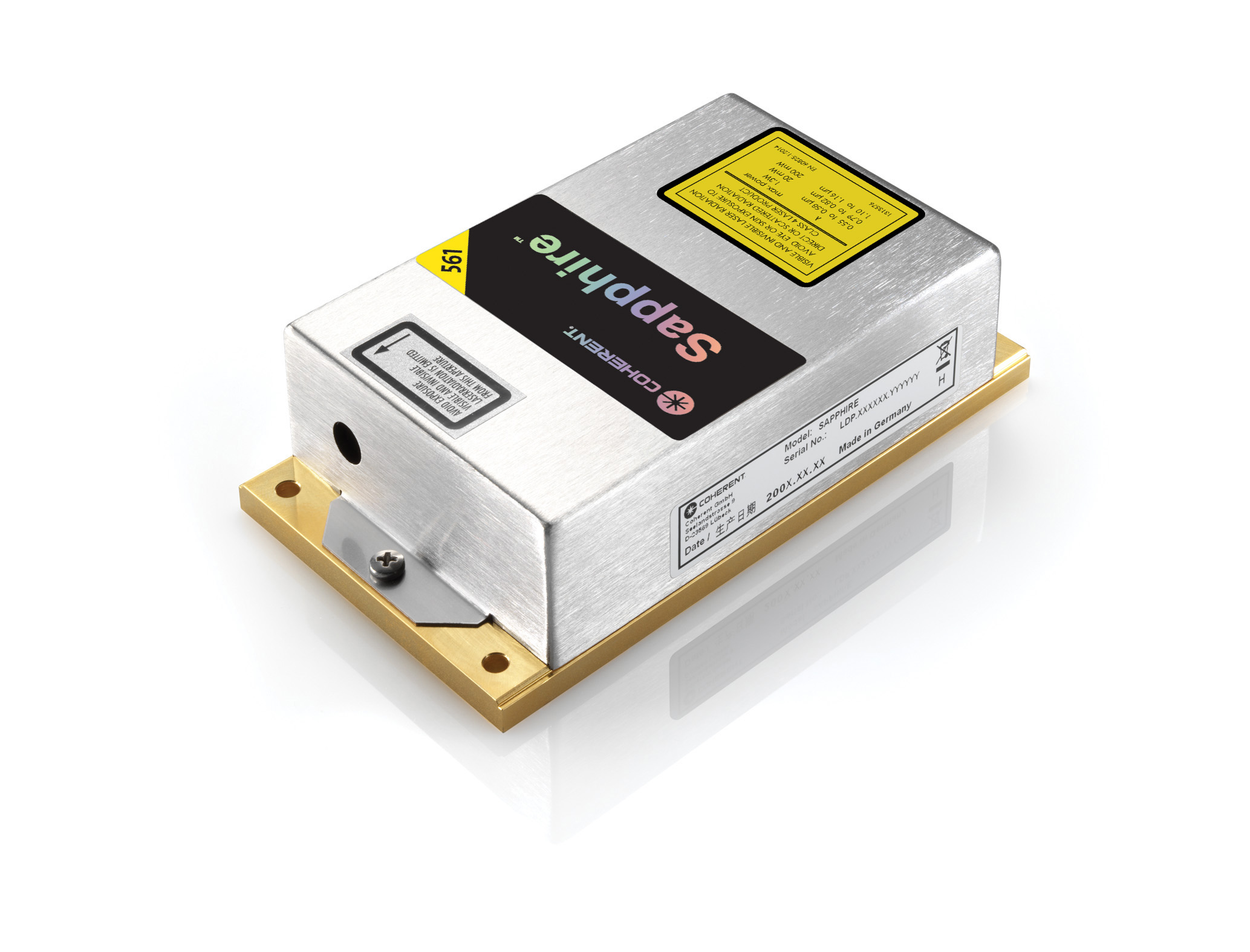 low power optically pumped semiconductor laser, sapphire lp
